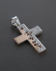 Pearl Diamond, Gold Pearl, Diamond Pendant, Diamond Jewelry, Christian Symbols, Cross Jewelry, Religious Jewelry, Crucifix, Cross Pendant
