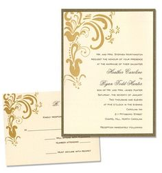 Brandi 2-Layer Wedding Invitations by MyGatsby.com