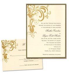 Brandi 2-Layer Wedding Invitations by MyGatsby.com