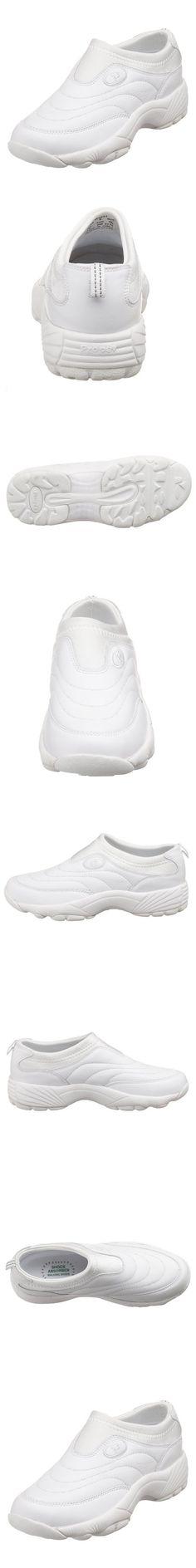 Propet Women's W3851 Wash & Wear Slip-On,White,9.5 M (US Women's 9.5 B)