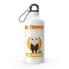 Termo - El termo del mejor ingeniero industrial, encuentra este producto en nuestra tienda online y personalízalo con un nombre. Water Bottle, Drinks, Carton Box, Store, Crates, Drinking, Beverages, Water Bottles, Drink