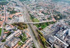 Ny højbro i Nykøbing Falster i forbindelse med dobbeltspor til jernbanen til Tyskland gennem Femern tunnlen i Rødbyhavn #femern #falster