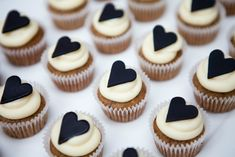 Heart cupcakes.