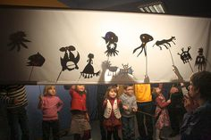 Shadow Art, Shadow Play, Theme Animation, Shadow Theatre, Puppets For Kids, Shadow Puppets, Preschool Art, Creative Kids, Teaching Art