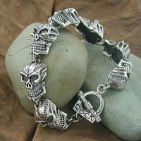 Skull Bracelet - Silver jewelry for another fashions