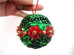 esferas navideñas manualidades