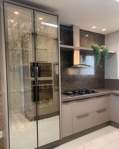 Fantastic kitchen style are offered on our website. Kitchen Room Design, Kitchen Cabinet Design, Modern Kitchen Design, Home Decor Kitchen, Kitchen Furniture, Interior Design Living Room, Furniture Cleaning, Kitchen Cabinets Models, Glass Kitchen Cabinets