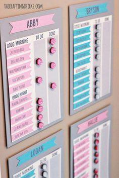 DYI schedule organizer