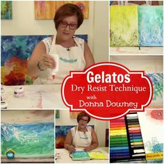 FABER-CASTELL DESIGN MEMORY CRAFT: DRY RESIST TECHNIQUE This wonderful technique by Donna Downey creates a beautiful background using one medium we're all familiar with- school glue! This background would be wonderful for any craft project including journals, cards and layouts on My Craft Channel.com