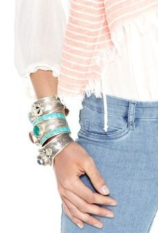 Love these layered Cuff Bracelets together!