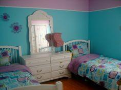 Purple & blue girl bedroom - Studio All Day   Studio All Day