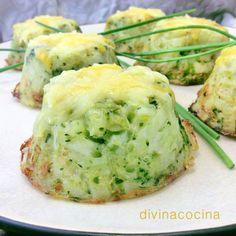 Pastelillos de patata y brocoli