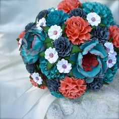 Hey, I found this really awesome Etsy listing at http://www.etsy.com/listing/156661937/teal-coral-and-grey-handmade-paper
