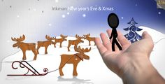 Inkman stick figure presents a Happy New Year's change, together with your Holiday Greetings & Wishes! Use this template in youtube as Intro or e-mail it as a X-mas motion card!