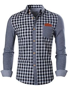 Tom's Ware Mens Trendy Slim Fit Two-toned Checkered Longsleeve Collar Shirt… African Shirts For Men, African Dresses Men, African Clothing For Men, Mens Clothing Styles, Stylish Mens Outfits, Casual Wear For Men, Stylish Shirts, Cool Shirts For Men, Formal Shirts For Men