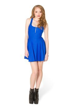 Matte Royal Blue Evil Zip Dress by Black Milk clothing   SIZE M - New with tag   40€ + shipping