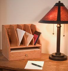 Weekend Project: A Desk Organizer - Fine Woodworking Article