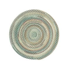 Pyle Round Made to Order Braided Rug Light Blue (36-inch) | Overstock.com Shopping - The Best Deals on Round/Oval/Square