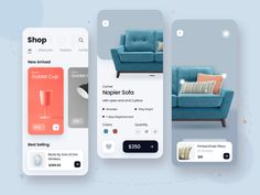 Shop App by Tribhuvan Suthar for uigate on Dribbble Ui Design Mobile, App Ui Design, Interface Design, User Interface, Flat Design, App Design Inspiration, Mobile App Ui, Apps, Screen Design
