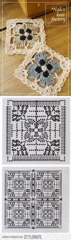 Transcendent Crochet a Solid Granny Square Ideas. Inconceivable Crochet a Solid Granny Square Ideas. Motifs Granny Square, Crochet Motifs, Crochet Blocks, Granny Square Crochet Pattern, Crochet Diagram, Crochet Chart, Crochet Squares, Crochet Stitches, Granny Squares