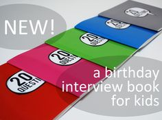 I love this idea of a birthday interview book...