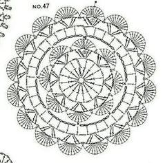 Crochet ideas that you'll love Marque-pages Au Crochet, Motif Mandala Crochet, Crochet Coaster Pattern, Crochet Doily Diagram, Crochet Circles, Granny Square Crochet Pattern, Crochet Stitches Patterns, Crochet Chart, Crochet Doilies