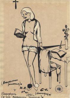 Drawings from the Book Das Leningrader Album by Evgenij Kozlov.
