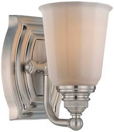 """Minka Clairemont Collection Nickel 7 1/4"""" High Wall Sconce"""
