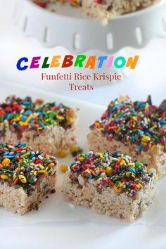 Celebration Funfetti Rice Krispie Treats - Picky Palate