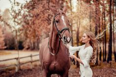 Photoshoot with horse, autumn photoshoot, horse