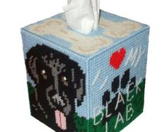 This is a PDF Pattern that will be emailed to you so you can make the Yellow Labrador Tissue Box Cover pictured above. Description from etsy.com. I searched for this on bing.com/images