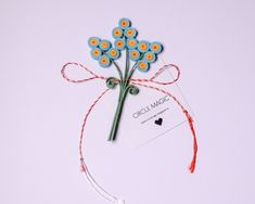 Quilling Paper Flower - DIY Favor     Martisoare Handmade 2018 Quilling - Circul Magic Quilling Work, Quilling Flowers, Paper Flowers Diy, Diy Paper, Flower Diy, Paper Quilling, Origami, Art Projects, Favors