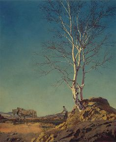 Maxfield Parrish - White Birch, 1929