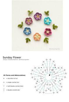 Crochet Jewelry Patterns, Crochet Hair Accessories, Crochet Mandala Pattern, Crochet Flower Patterns, Crochet Diagram, Crochet Designs, Tatting Patterns, Doll Patterns, Crochet Small Flower