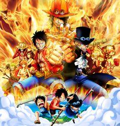 Resultado de imagen para wallpaper one piece luffy ace sabo One Piece Manga, Ace One Piece, One Piece Seasons, One Piece World, One Piece Luffy, Manga Anime, Anime One, Otaku Anime, Monkey D Luffy