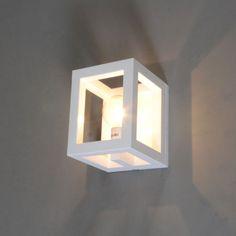 Wandlamp Cage 1 wit - Wandlampen - Binnenverlichting - Lampenlicht.be