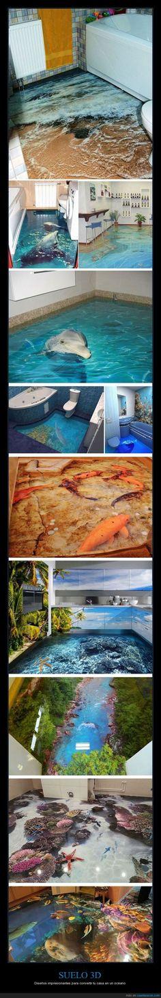 SUELO 3D - Diseños impresionantes para convertir tu casa en un océano