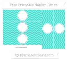 Free Turquoise Chevron Blank Napkin Rings