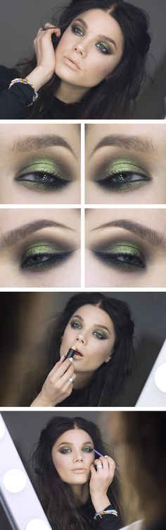 Green smokey eye