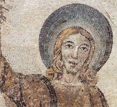 """Mausoleo di Santa Costanza.  A curious Jesus in the """"traditio legis"""" mosaic"""
