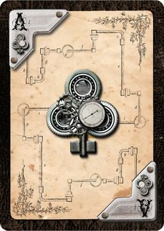 Andrea's Steampunk Playing Cards - Sixpencegames / Tema, presente tanto no…