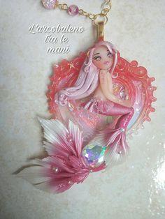 Guarda questo articolo nel mio negozio Etsy https://www.etsy.com/it/listing/571818939/collana-fantasy-sirena-rosa-fatta-a-mano