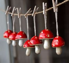 Lazar: Tiny Papier Mache mushrooms 2019 Lazar: Tiny Papier Mache mushrooms More The post Lazar: Tiny Papier Mache mushrooms 2019 appeared first on Paper ideas. Clay Christmas Decorations, Christmas Crafts, Christmas Ornaments, Woodland Christmas, Xmas, Paper Mache Crafts, Polymer Clay Crafts, Mushroom Crafts, Paperclay
