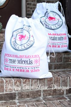Personalized Santa Sack - Christmas Santa Dack - North Pole Bag - Santa Bag - Custom Design - Made in USA on Etsy, $29.99