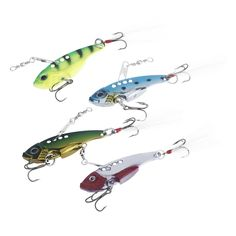 This item is one of the best accessories in your tackle box. It includes 4pcs VIB hard baits which have bright colors and can vibrate under water with a wide amplitude of swing to provoke predator to bite. If you are a fishing enthusiast, take this fishin