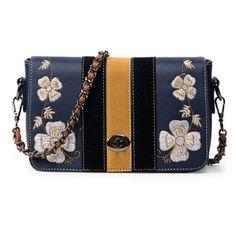 0effa65401 Fashion Women Bag Flower Embroidery Messenger Floral Black Blue Small Bags