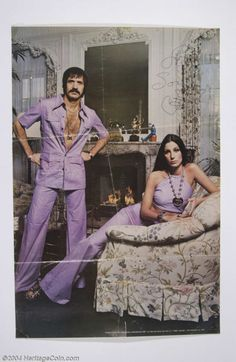 Sonny & Cher /What a pair!  Used to lmao watching their show when I was a kid.