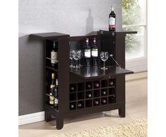 Mini Bar Table Liquor Cabinet Expandable Shelf Rack Cabinet Wine Storage Bottles #LiquorCabinet
