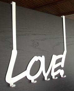 """Wieszak na ubrania """"Love"""" montowany na drzwi"""
