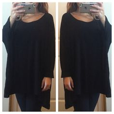 Black Dolman Top Perfect condition dolman tunic. From shoulder to bottom is 27 inches. Size medium but could fit a small or a large also same day or next day shipping. No trades and no holds. 20% off of bundles. a.n.a Tops Tunics
